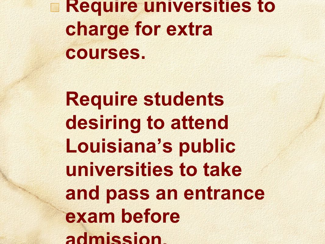 Require universities to charge for extra courses.