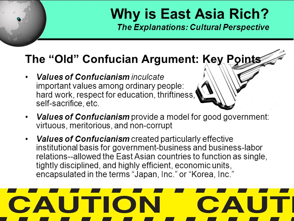 15 Confucianism and Economic Development According to Lam and Paltiel, Confucianism is not Chinese culture--it is only part of Chinese culture in Taiwan In reality, Chinese culture is made up of both dominant (orthodox) and countercultural (heterodox) values In Taiwan, these include Taoist, Buddhist, and other subcultures, which combined, create a populist culture Why is East Asia Rich.