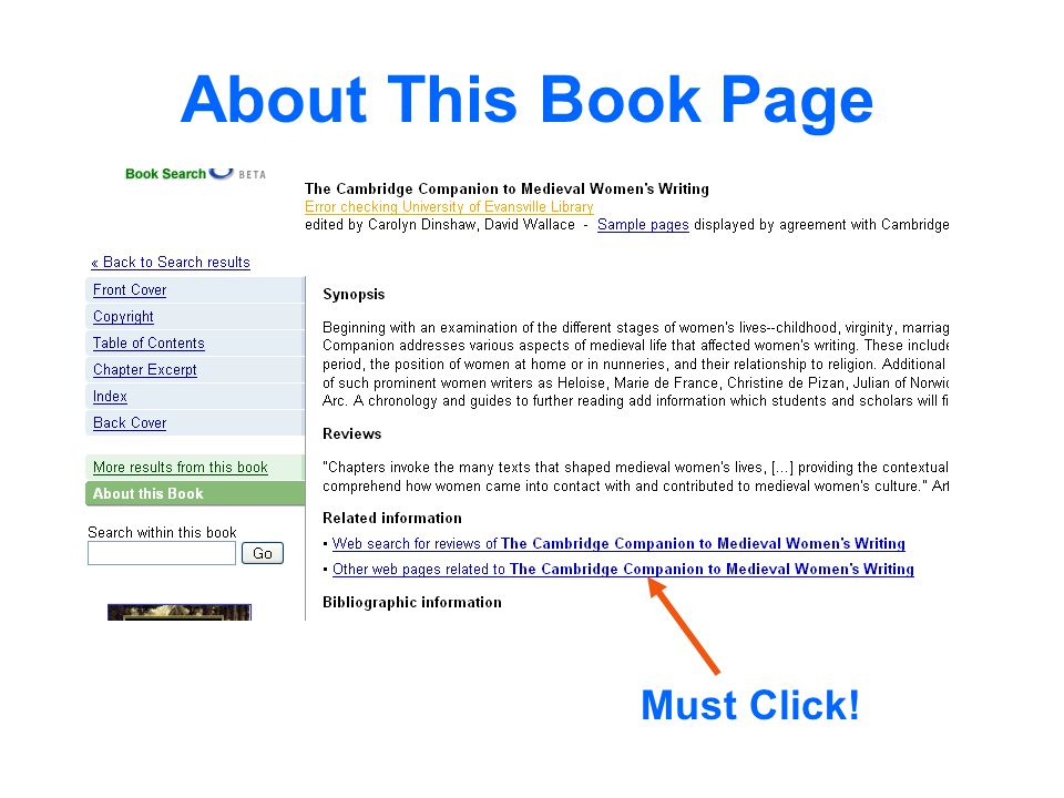 About This Book Page Must Click!