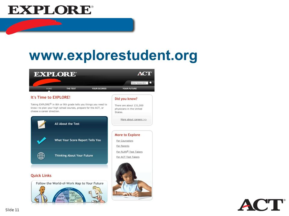 Slide 11 www.explorestudent.org