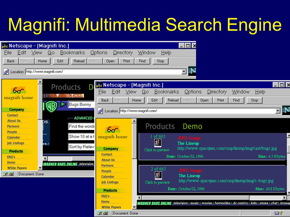 Magnifi: Multimedia Search Engine