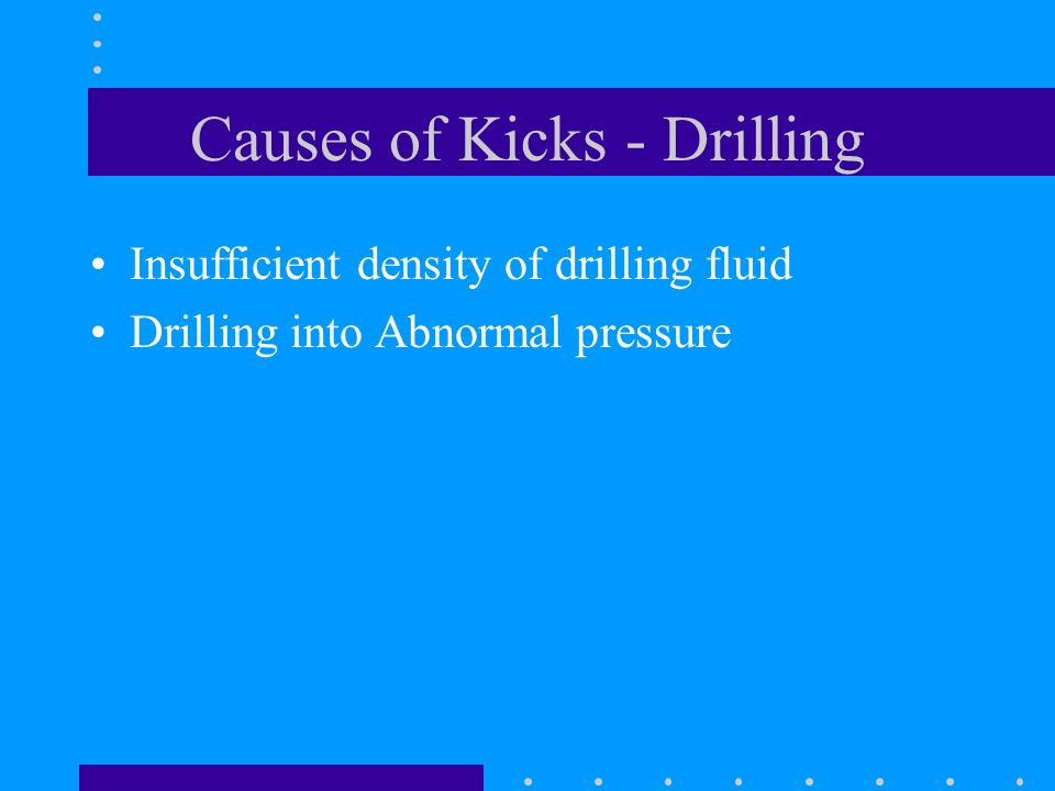 Lubricate & Bleed Only applicable with gas at the surface Pump in KWM into wellbore Let KWM fall for some time Bleed off gas Repeat