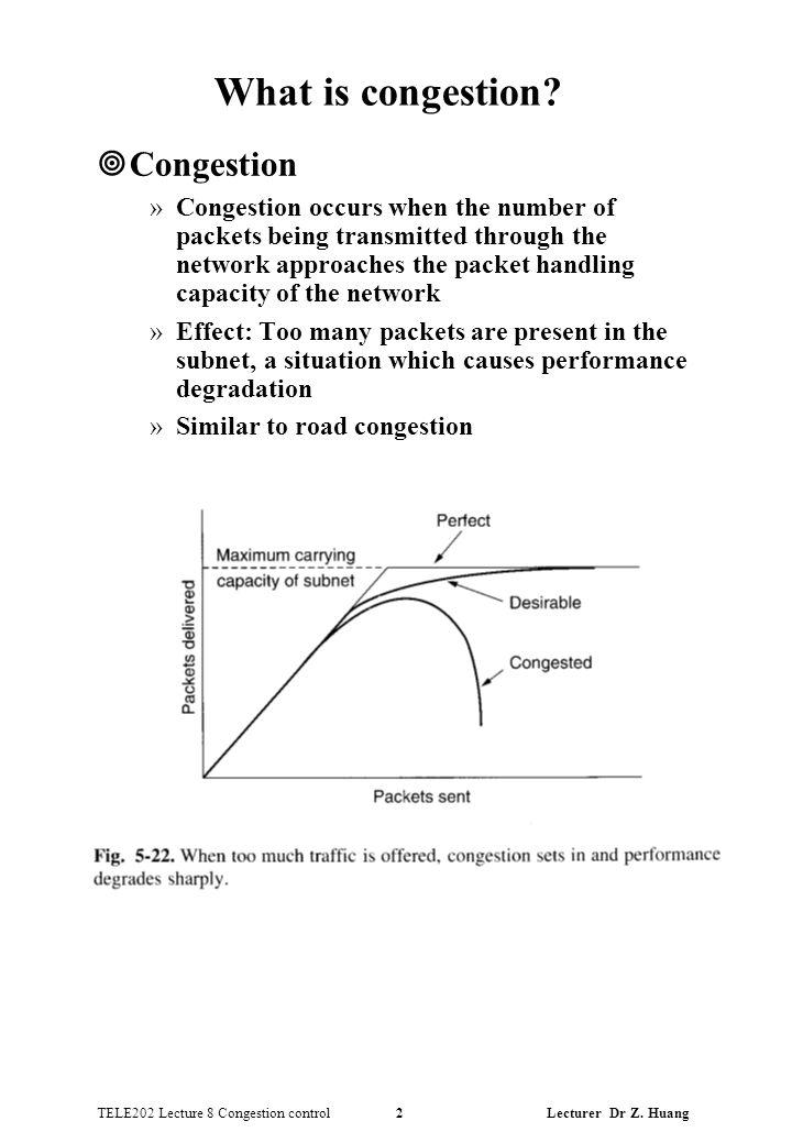 TELE202 Lecture 8 Congestion control 2 Lecturer Dr Z.