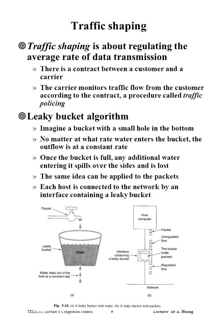 TELE202 Lecture 8 Congestion control 9 Lecturer Dr Z.