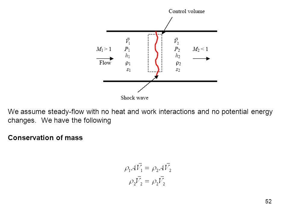 52 We assume steady-flow with no heat and work interactions and no potential energy changes. We have the following Conservation of mass