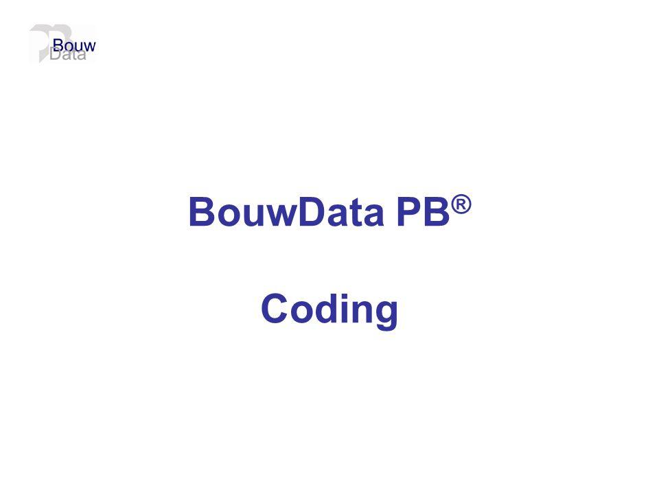 BouwData PB ® Coding