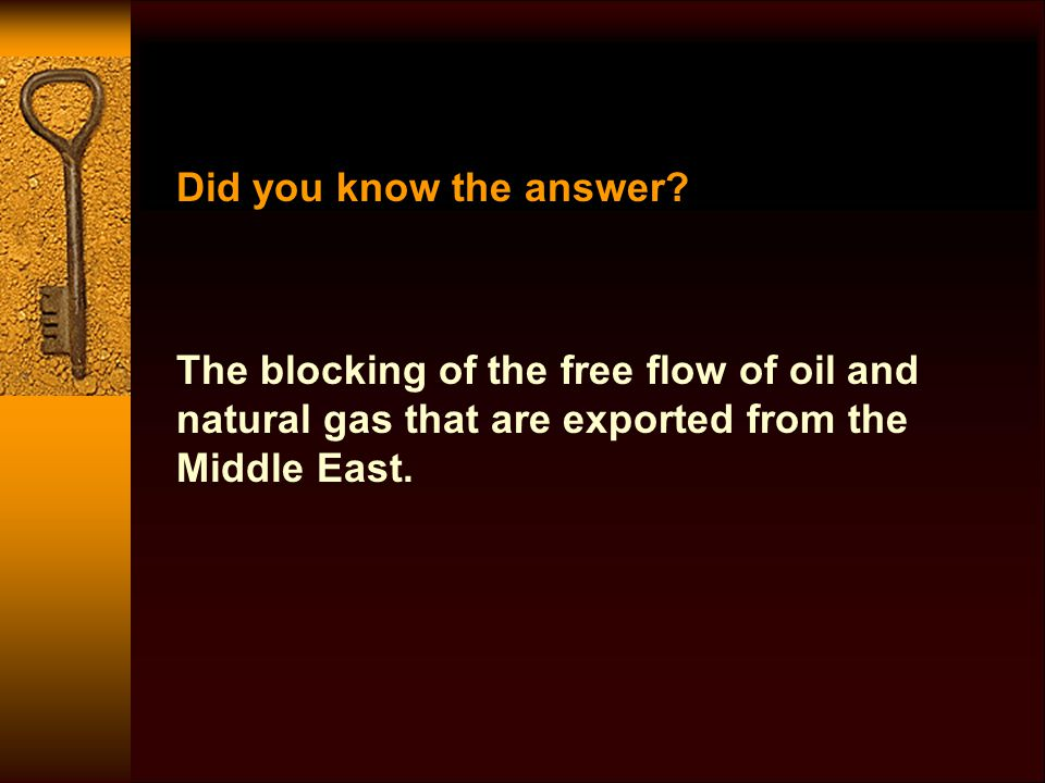 Did you know the answer.