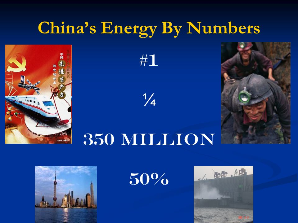 China's Energy By Numbers #1 ¼ 350 Million 50%