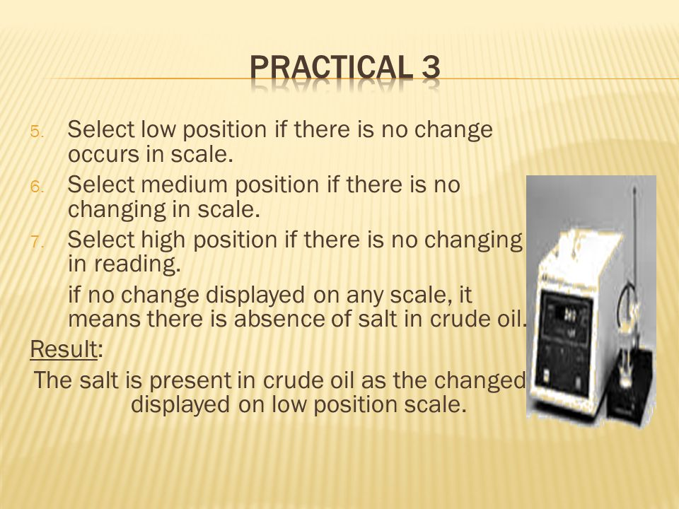 5. Select low position if there is no change occurs in scale.