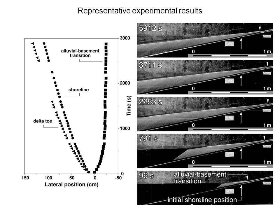 Representative experimental results
