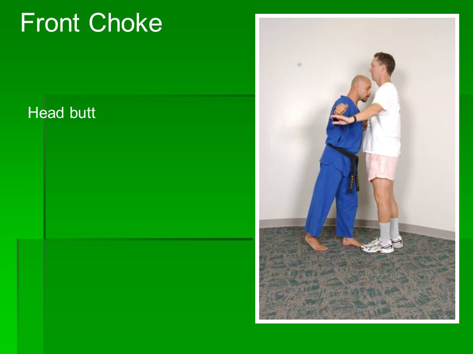 Front Choke Grab shoulders