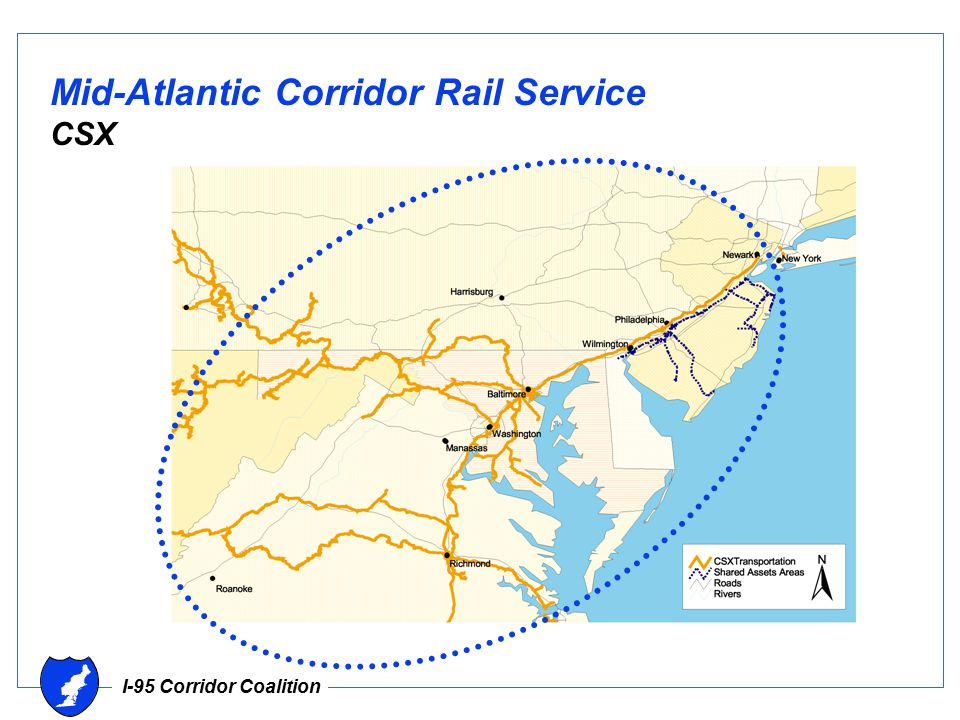 I-95 Corridor Coalition Mid-Atlantic Corridor Rail Service CSX