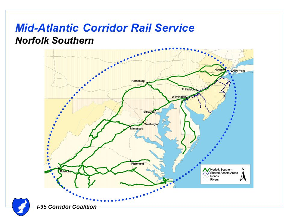 I-95 Corridor Coalition Mid-Atlantic Corridor Rail Service Norfolk Southern