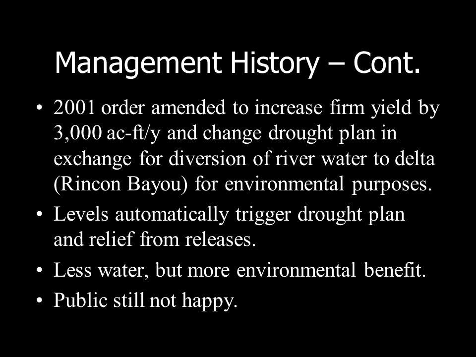 Management History – Cont.