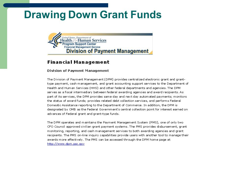 Drawing Down Grant Funds