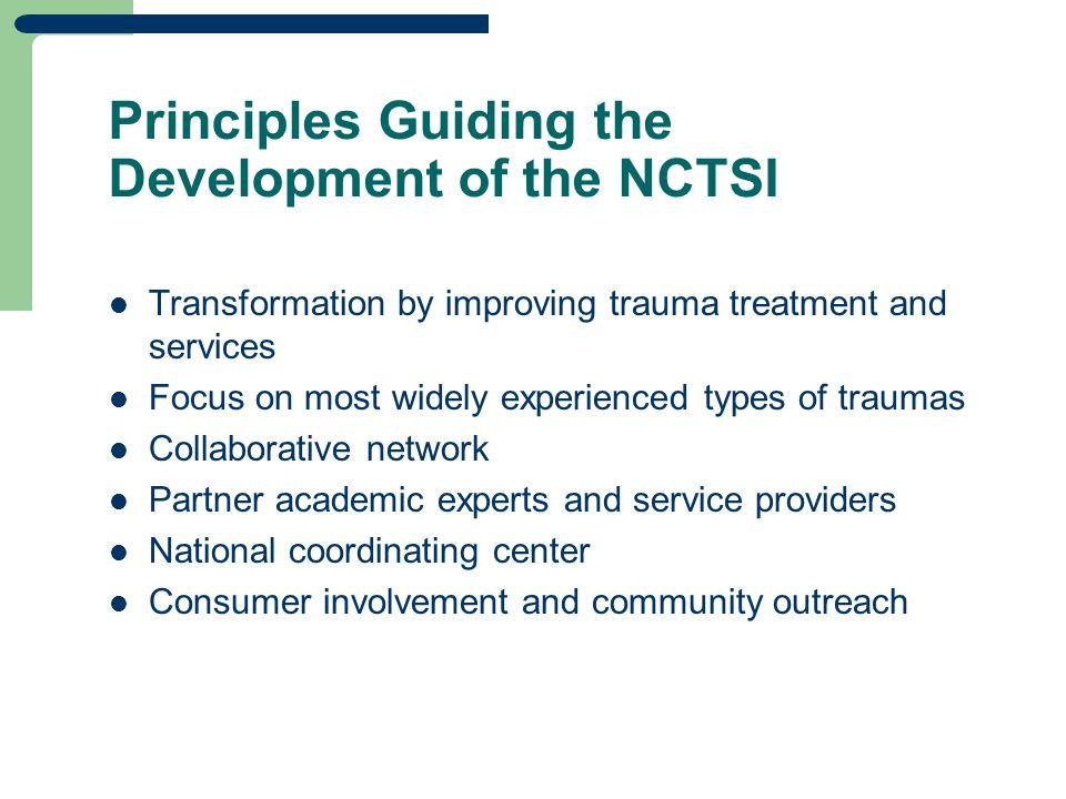 National Child Traumatic Stress Network (NCTSN) Accomplishments