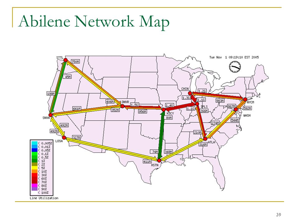 39 Abilene Network Map