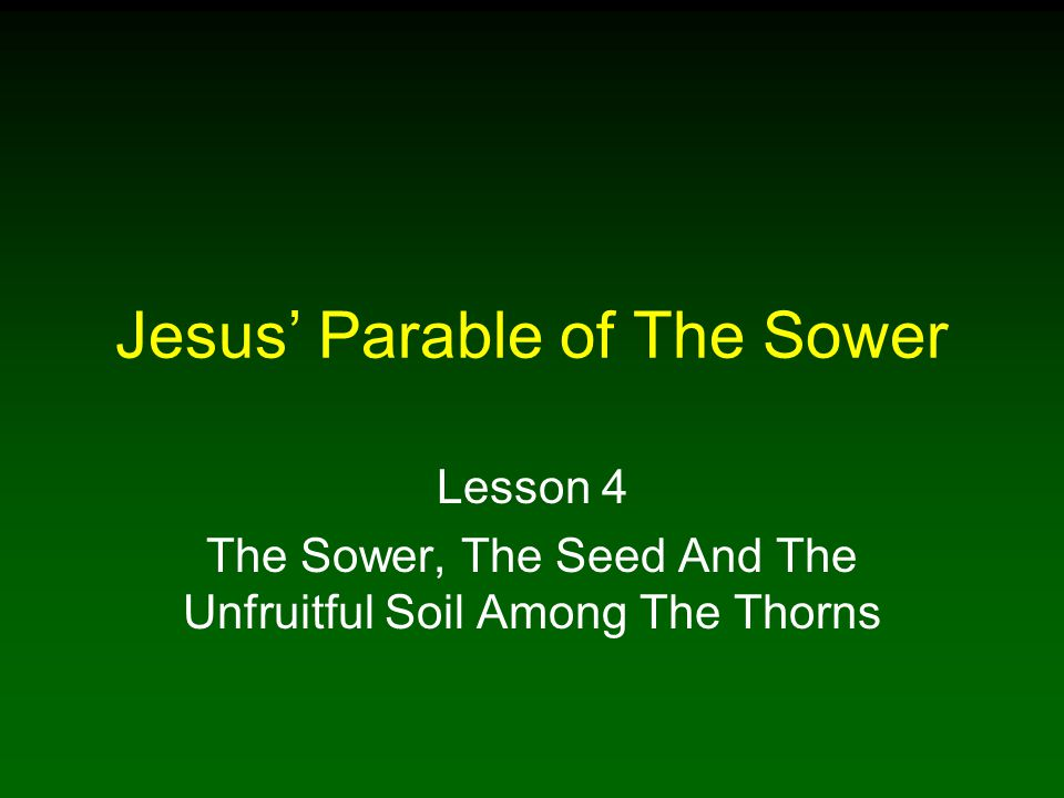 2 An Introduction To Jesus' Parables A parable is an earthly story designed to teach a spiritual lesson through a comparison Jesus taught parables to separate hardened hearts from humble and honest hearts