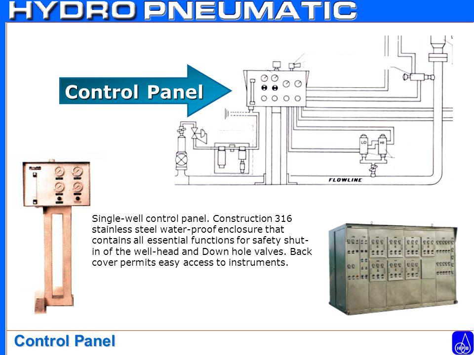 Single-well control panel.