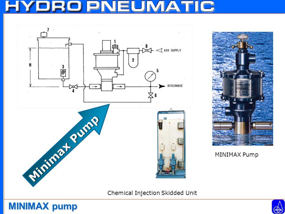 Minimax Pump MINIMAX pump Chemical Injection Skidded Unit MINIMAX Pump