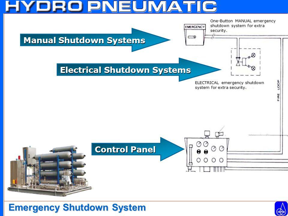 Manual Shutdown Systems Electrical Shutdown Systems ELECTRICAL emergency shutdown system for extra security.