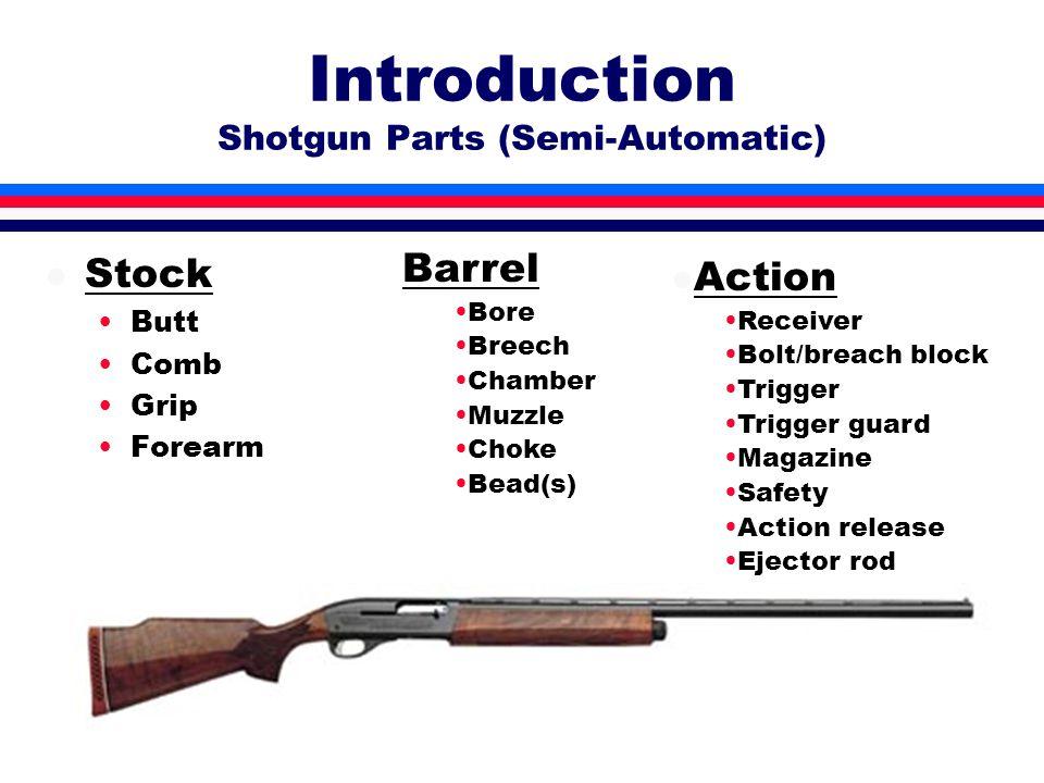 Introduction Shotgun Operation l Loading l …getting the shotgun ready to shoot l Unloading l …making the shotgun safe