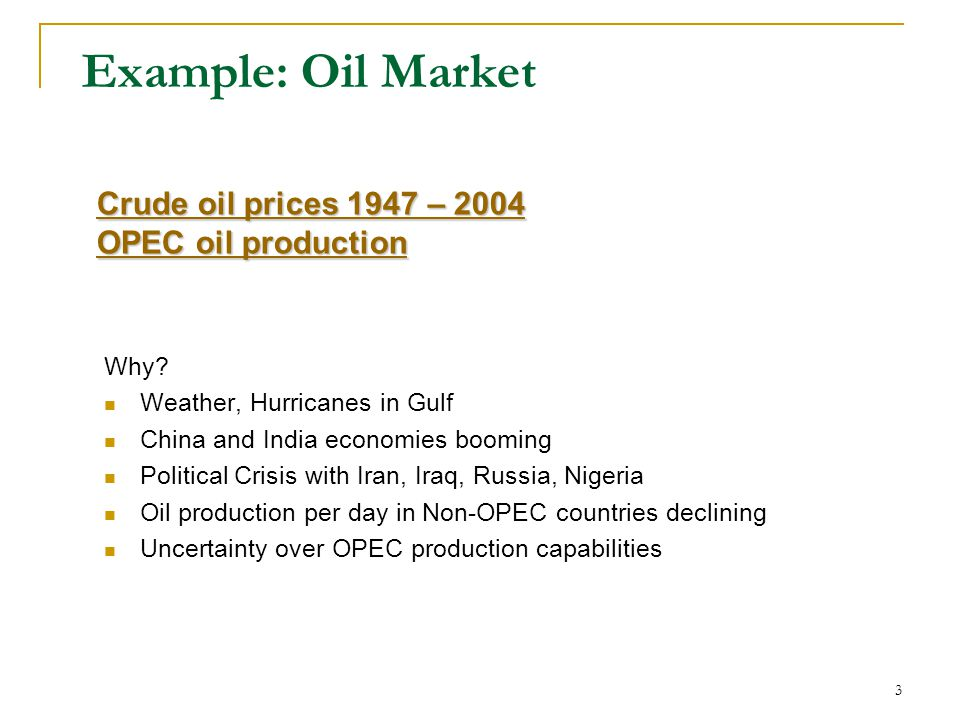 Example: Oil Market Why.