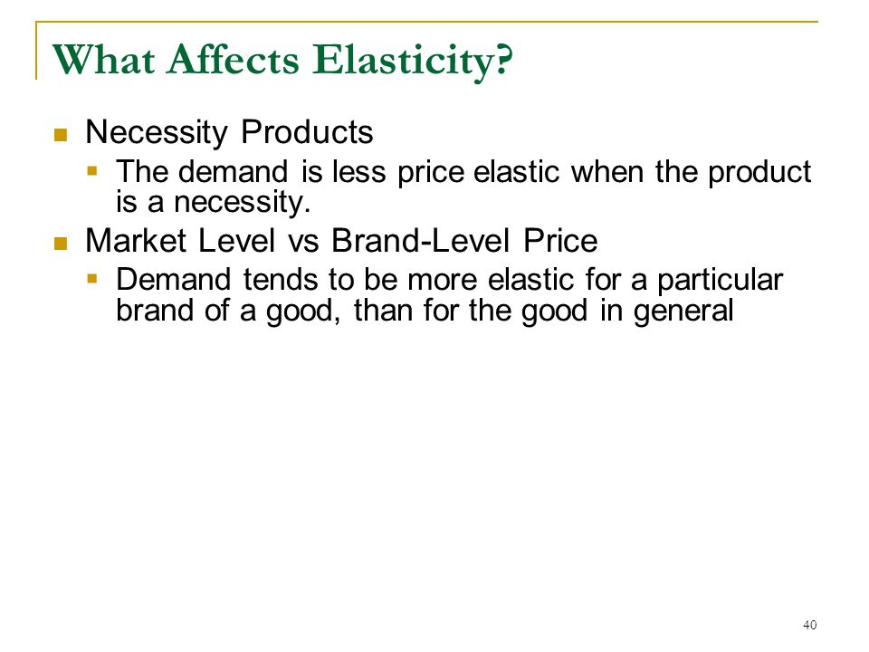 What Affects Elasticity.