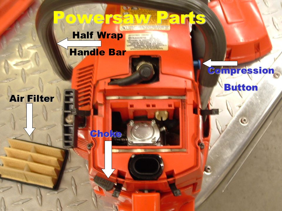 Air Filter CompressionButton Choke Half Wrap Handle Bar Powersaw Parts