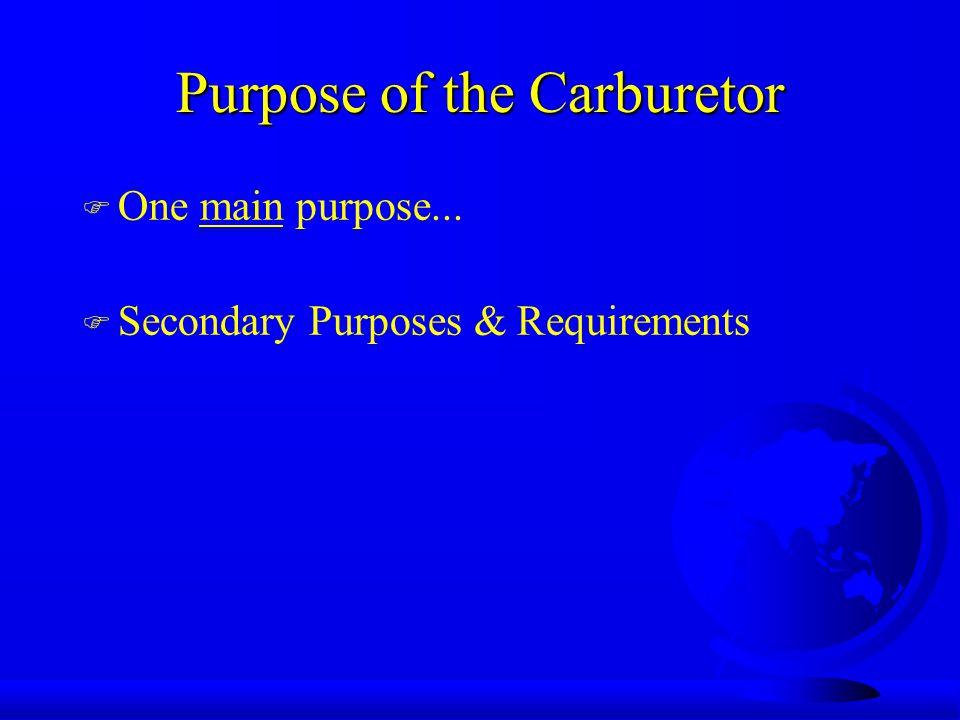 Carburetor Adjustments (con't) u Again, turn the screw in (clockwise) until the engine speed decreases.