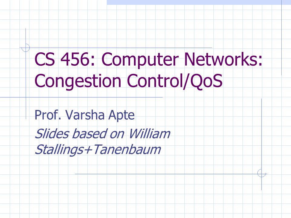 CS 456: Computer Networks: Congestion Control/QoS Prof.