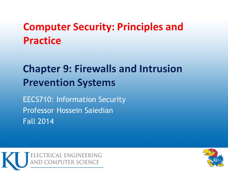 2 Firewalls and Intrusion Prevention Systems Effective means of protecting LANs Internet connectivity essential – For organization and individuals – But creates a threat Could secure workstations and servers Also use firewall as perimeter defence – Single choke point to impose security