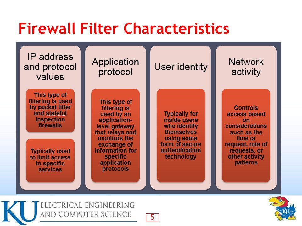 5 Firewall Filter Characteristics