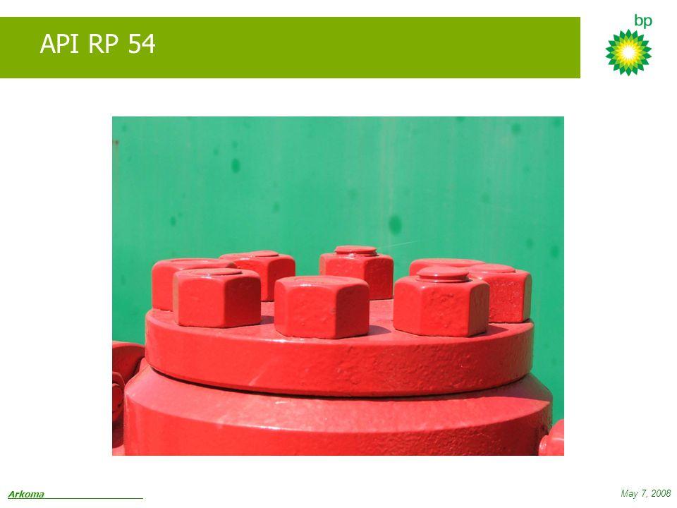 Arkoma May 7, 2008 API RP 54