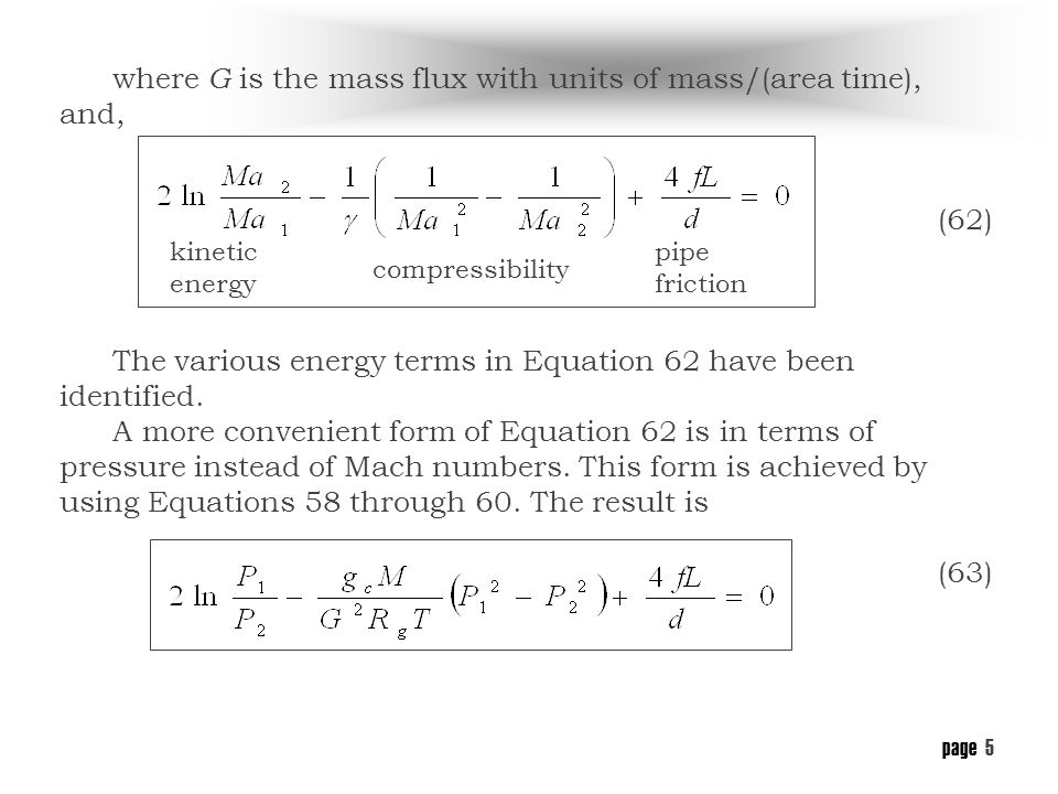 page 4 Applying the above assumptions to Equation 44, and, after considerable manipulation (58) (59) (60) (61)