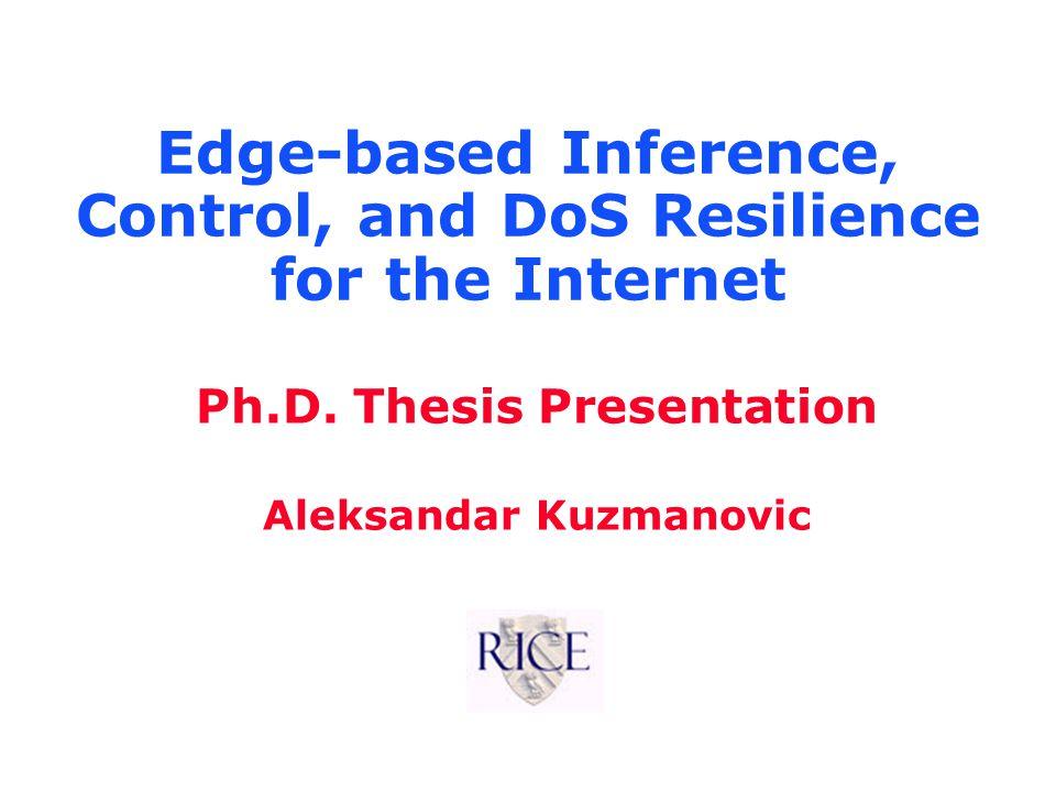 Aleksandar Kuzmanovic Vulnerability of Receiver-Based TCP to Misbehaviors l Sender-based TCP –Control functions given to the sender