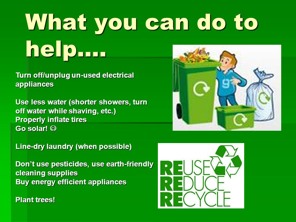 What you can do to help….