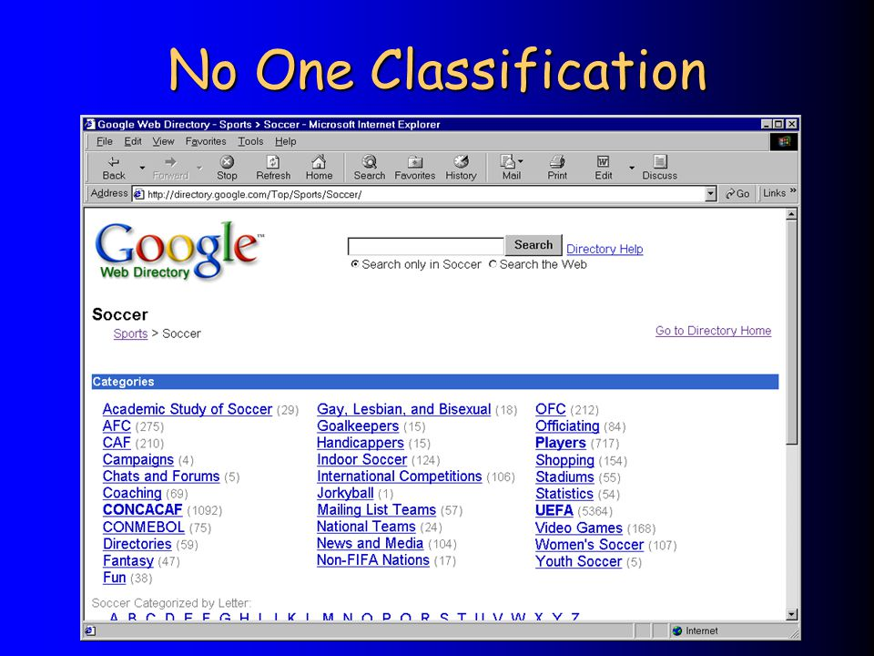 No One Classification