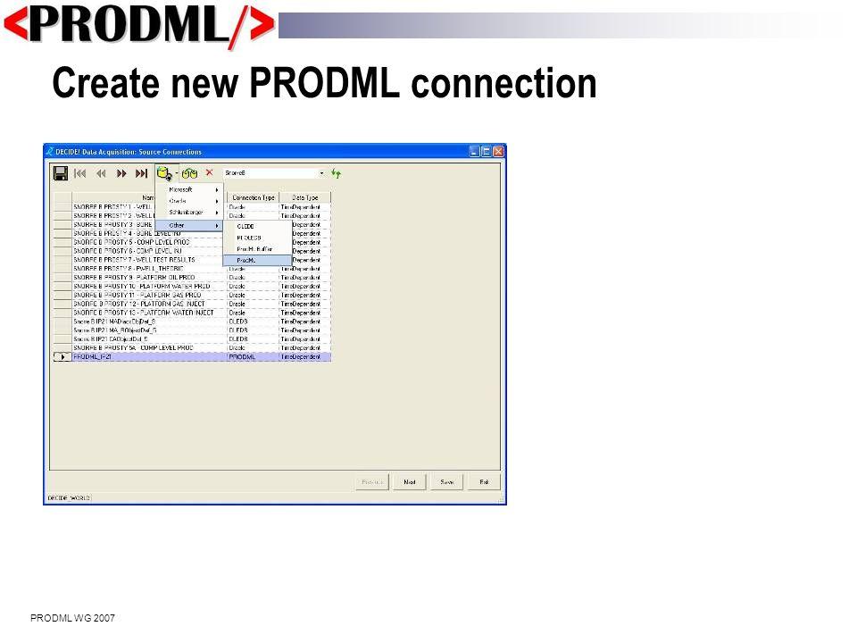 PRODML WG 2007 Point to TietoEnator's web service