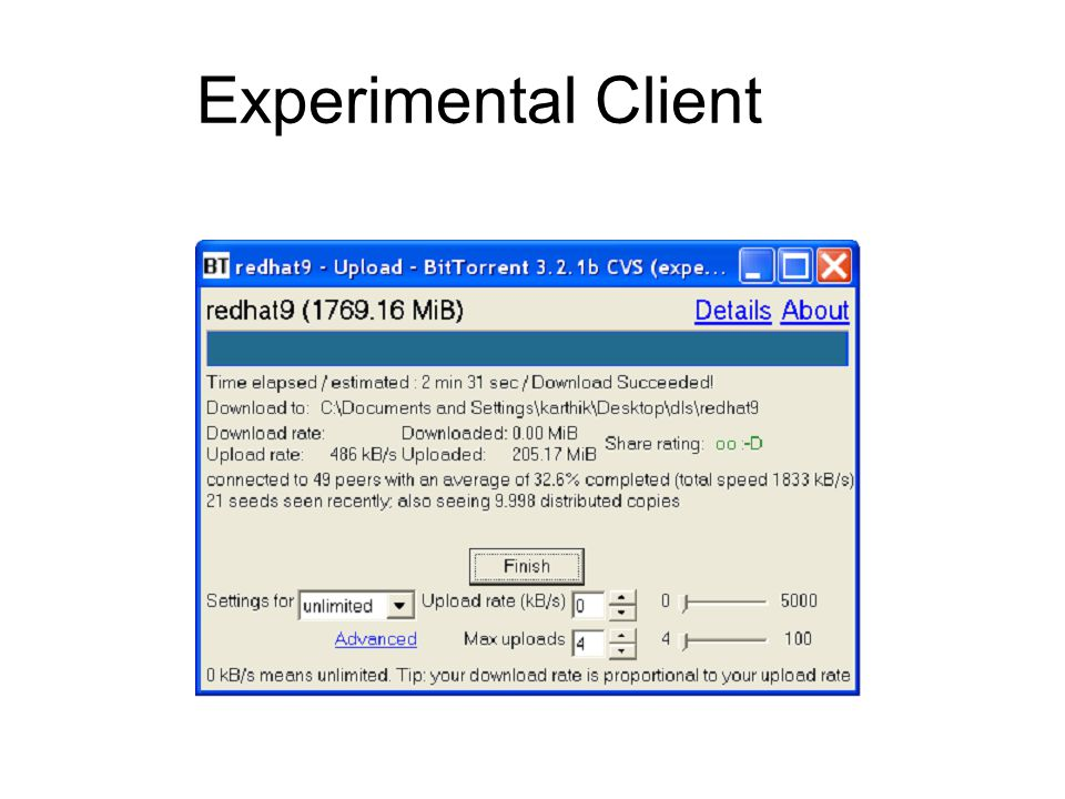 Experimental Client
