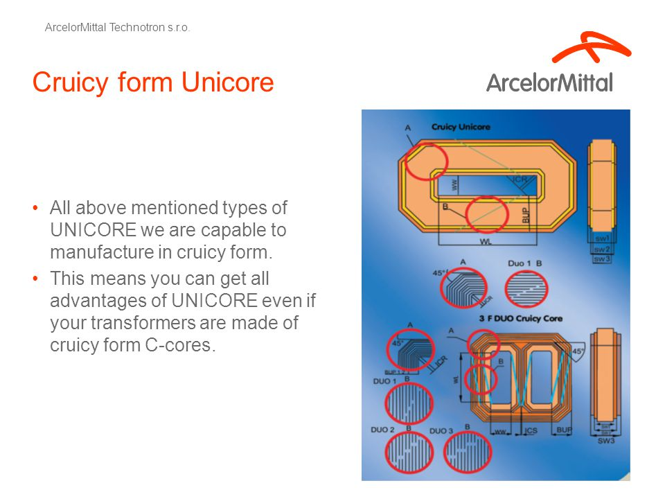 Cruicy form Unicore All above mentioned types of UNICORE we are capable to manufacture in cruicy form. This means you can get all advantages of UNICOR