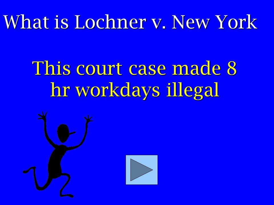 Plessy v. Ferguson Sat in the wrong train car; 1/8 black – what court case?