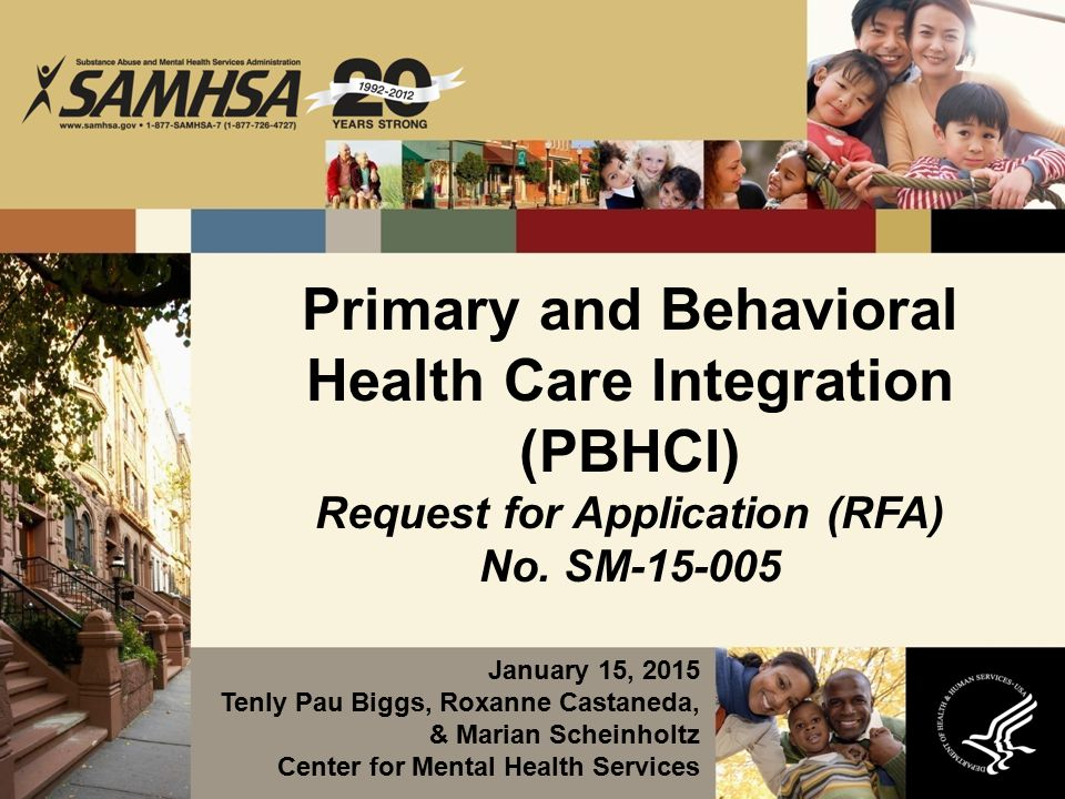 Primary and Behavioral Health Care Integration (PBHCI) Request for Application (RFA) No.