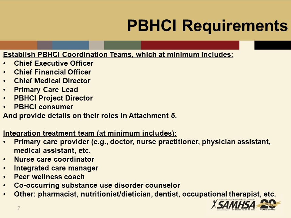 PBHCI Requirements 8 Health Information Technology (HIT): Grantees must achieve Meaningful Use Standards, as defined by CMS, by the end of the grant period; Prevention & Health Promotion: Grantees are expected to implement evidence-based tobacco cessation and nutrition/exercise interventions, in addition to other health promotion programs (e.g.