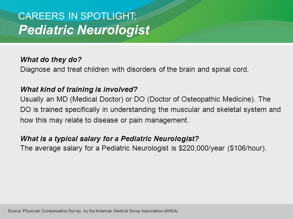 CAREERS IN SPOTLIGHT: Pediatric Neurologist What do they do.