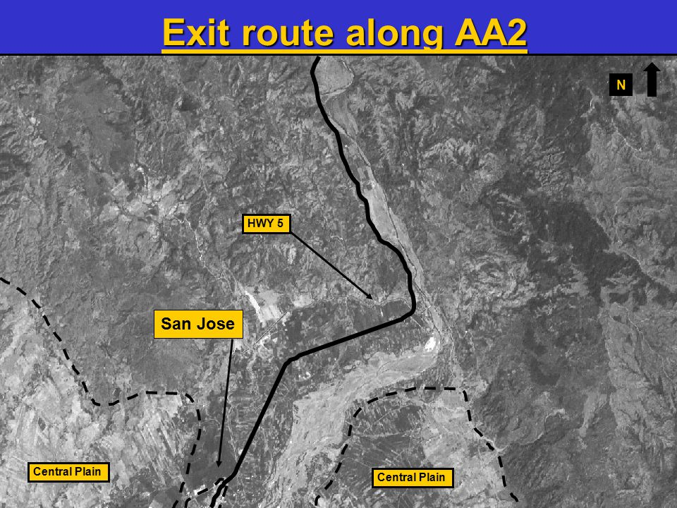 22 HWY 5 Central Plain San Jose Exit route along AA2 N