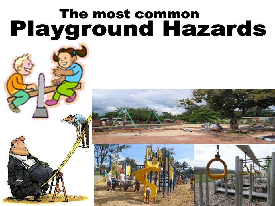 Common PLAYGROUND HAZARDS Equipment Hazards Environmental Hazards Supervision Hazards