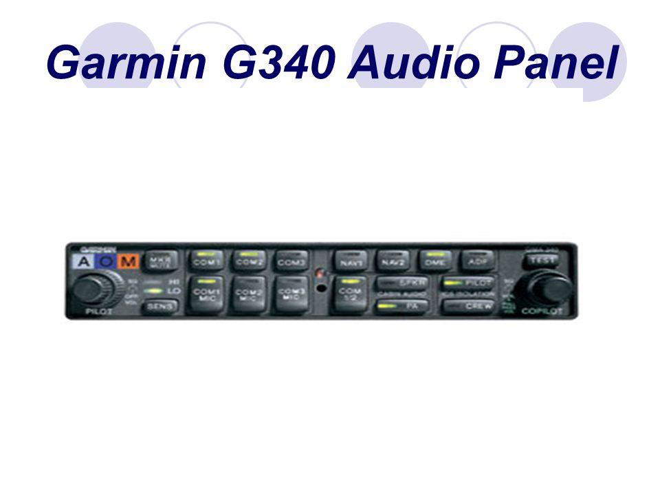 Garmin G340 Audio Panel