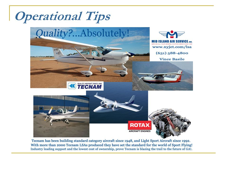 Operational Tips