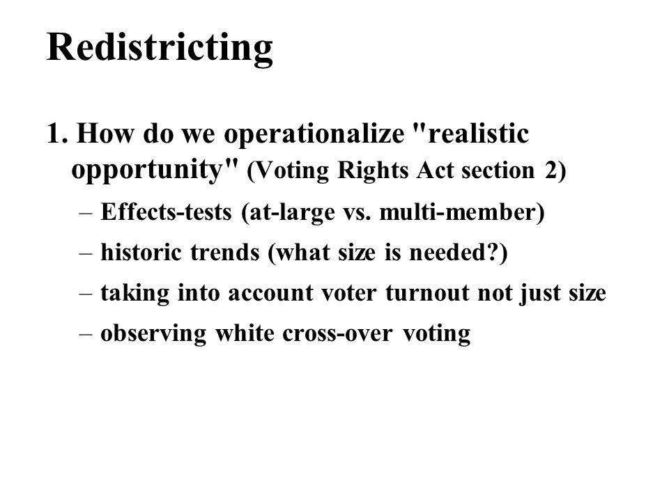 Redistricting 1.
